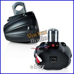 1 Lanzar Bluetooth 6''x9'' 4-Way 1200W Marine Wakeboard Tower Speaker AQAWBS69BK