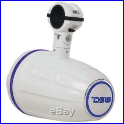 1x HYDRO 1.75 Driver Wakeboard Pod Tower Speaker 900W Integrated RGB LED Light