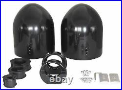 2 8 Black Wakeboard Tower Enclosure Pods For Wet Sounds XS-808 Marine Speakers