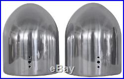 2 8 Silver Wakeboard Tower Enclosure Pods For MB Quart NK1-120 Marine Speakers