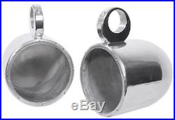 2 8 Silver Wakeboard Tower Enclosure Pods For Pioneer TS-MR2040 Marine Speakers