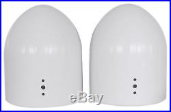 (2) 8 White Wakeboard Tower Enclosure Pods 4 Wet Sounds XS-808 Marine Speakers