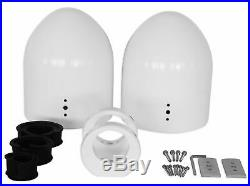 (2) 8 White Wakeboard Tower Enclosure Pods For MB Quart NK1-120 Marine Speakers
