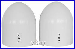 2 8 White Wakeboard Tower Enclosure Pods for Wet Sounds Revo-8 Marine Speakers