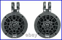 2 Boss MPWT50RGB 5.25 UTV ATV Marine Wakeboard Tower LED Speakers+MB Quart Amp
