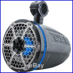 2 DS18 CF8TPB 8 Boat Wakeboard Wake Tower UTV Pod Speakers 850W RGB LED Light