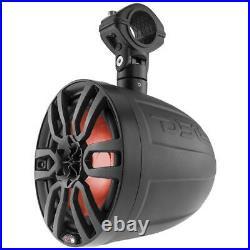 2 DS18 NXL6UTV 6.5 Wake Board Tower Marine Boat UTV Jeep Speakers Black RGB LED