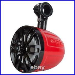 2 DS18 NXL6UTV 6.5 Wake Board Tower Marine Boat UTV Roll Bar Speakers Red RGB