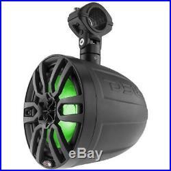 2 DS18 NXL8UTVBK 8 Wake Board Tower Marine Boat UTV Speakers Matte Black RGB