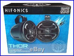(2) Hifonics TPS-CMS65 6.5 300w Wakeboard Tower speakers For RZR/ATV/UTV/Cart