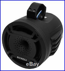 (2) Hifonics TPS-CP80 8 Marine Wakeboard Tower LED Speakers+Covers ATV/UTV/RZR