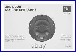(2) JBL MS8LB 450 Watt 8 Black LED Wakeboard Tower Speakers+Amp For ATV/UTV/RZR
