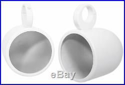 (2) JBL MS8LW 450 Watt 8 White LED Marine Wakeboard Tower Boat Speakers