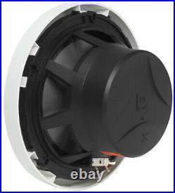 (2) JBL MS8LW 450 Watt 8 White LED Wakeboard Tower Speakers+Amp For ATV/UTV/RZR