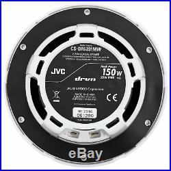 (2) JVC CS-DR6201MW 6.5 300 Watt 2-Way Marine Wakeboard Tower Speakers
