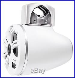 (2) KICKER 45KMTC65W 6.5 390w Marine Wakeboard LED Tower Speakers+MTX Amplifier