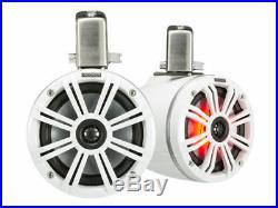 2 KICKER 45KMTC65W 6.5 Inch 390 Watts Marine Wakeboard Tower Audio Speakers