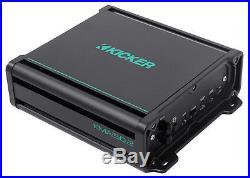 (2) KICKER KM65 6.5 390w White Marine Wakeboard Tower Speakers+Amplifier+Wires