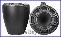 2 KICKER KMTC11 11 600w Black Wakeboard Tower Speakers+Bluetooth Receiver+Amp