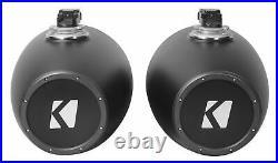 2 KICKER KMTC11 HLCD 11 600w Horn-Loaded LED Wakeboard Tower Speakers 44KMTC114