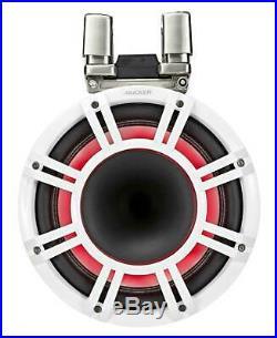 2 KICKER KMTC11 HLCD 11 600w White Wakeboard Tower Speakers withHorns 44KMTC114W