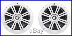 2 Kicker 41KM604W 6.5 150w Marine Wakeboard Tower Speakers+Amplifier+Amp Kit