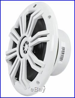 (2) Kicker 41KM604W 6.5 150w Marine Wakeboard Tower Speakers+Amplifier+Amp Kit