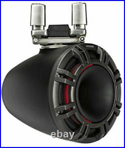 2 Kicker 44KMTC94 600W Peak 9 Wakeboard Tower Marine Speakers with LED Grills