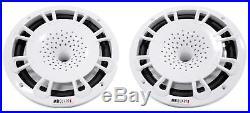 (2) MB Quart 8 360w Marine Wakeboard Tower Speakers 4 Boat/ATV/UTV/RZR Silver