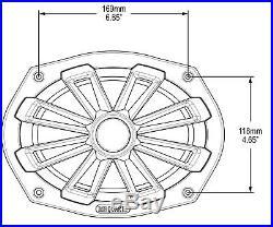 2 MB Quart NK1-169 6x9 280w Marine Wakeboard Tower Speakers+Bluetooth Receiver