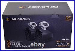 (2) Memphis Audio MXA60TB 6.5 150w Marine Boat Wakeboard Tower Speakers Black