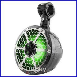 2 NEW DS18 CF-8UTV 8 Marine Boat Slim Wakeboard Pod Tower Speaker RGB LED Light