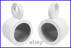 (2) Polk Audio 5.25 360° Swivel White Aluminum Wakeboard Tower Speakers