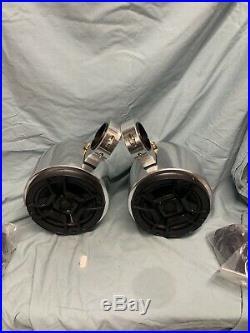 (2) Polk Audio 6.5 Aluminum Wakeboard Tower Speakers (38-WA2)