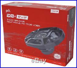 (2) Polk Audio 6x9 450w 360° Swivel Black Aluminum Wakeboard Tower Speakers
