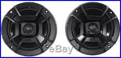 (2) Polk Audio DB652 6.5 300 Watt Marine Wakeboard Tower Speakers+Enclosures
