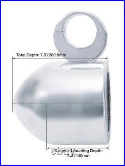 (2) Rockville 5.25 400 Watt 360° Degree Swivel Chrome Wakeboard Tower Speakers