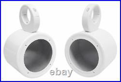 (2) Rockville 5.25 White Marine Wakeboard Tower Speaker Pods+Waterproof Covers