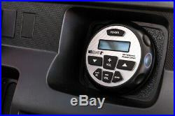(2) Rockville 6.5 250w Marine Wakeboard Tower Speakers+Bluetooth Gauge Receiver