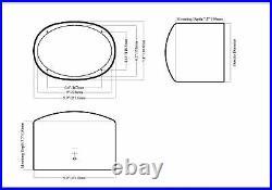(2) Rockville 6x9 1000w 360° Swivel Black Aluminum Wakeboard Tower Speakers