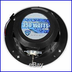 (2) Rockville 700w 6.5 LED 360° Swivel Black Aluminum Wakeboard Tower Speakers