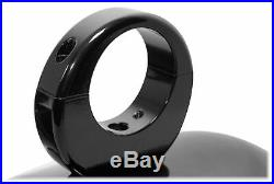 2 Rockville 8 LED 900 Watt 360° Swivel Black Aluminum Wakeboard Tower Speakers
