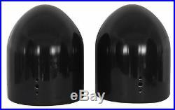 (2) Rockville DMAC80B Dual 8 Black Aluminum Wakeboard Tower Speaker Pods+Covers