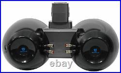 2 Rockville DWB65B Dual 6.5 Black 1200w Marine Wakeboard Tower Speaker Systems