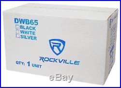 2 Rockville DWB65B Dual 6.5 Black 600w Marine Wakeboard Tower Speakers+Amp+Kit