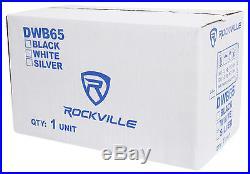 2 Rockville DWB65W Dual 6.5 Black 1200w Marine Wakeboard Tower Speaker Systems