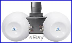 (2) Rockville DWB65W Dual 6.5 Black 600w Marine Wakeboard Tower Speaker Systems