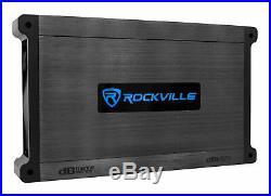 (2) Rockville DWB80B Dual 8 Black 800w Marine Wakeboard Tower Speakers+Amp+Kit