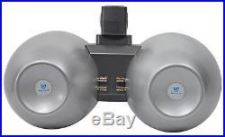 (2) Rockville Dual 8 800w Wakeboard Tower Speakers+2-Channel Amplifier+Amp Kit