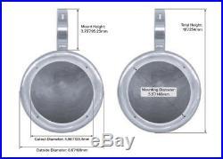 2 Rockville MAC525B 5.25 360 Degree Swivel Marine Wakeboard Tower Speaker Pods